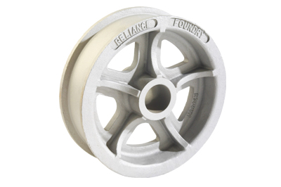 Double flanged industrial cart wheel