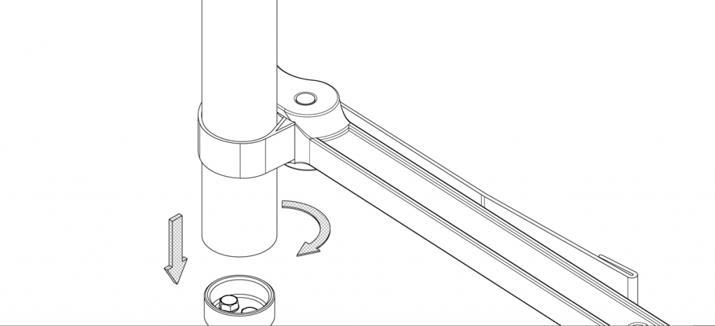 Diagram showing strap wrench