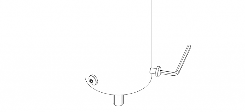 Diagram of bollard secured to the outside collar of the anchor