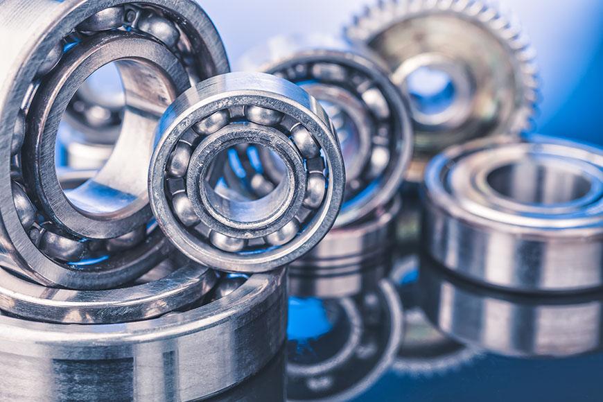 Various types of bearings