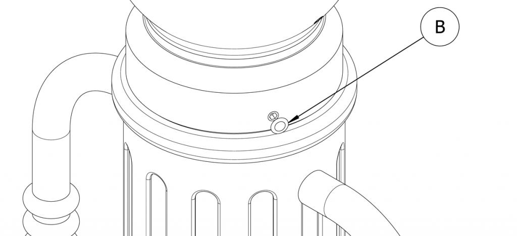 Diagram showing plastic plugs over set screws