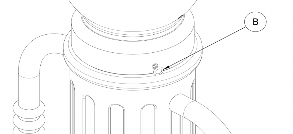 Diagram of plastic plug over set screw