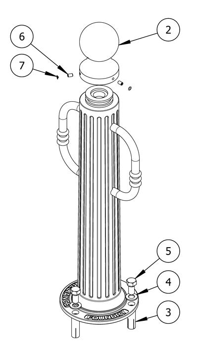 install bike bollards flanged mountings