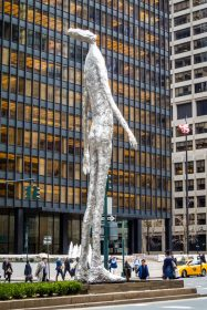 Sculpture in New York made from investment casting