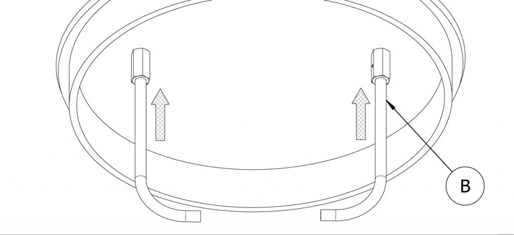 Diagram showing concrete anchors in cap