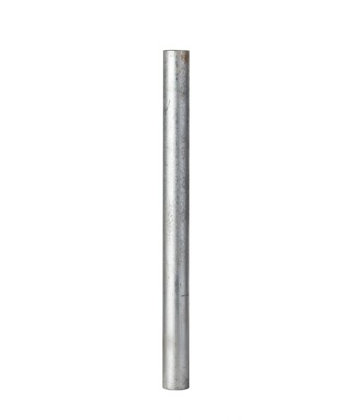 Silver R-1007-04 steel pipe security bollard
