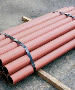 Stack of R-1007-10 steel pipe security bollards