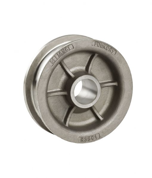 R-3561 double flanged industrial steel wheel