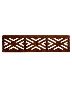 R-4989 Riverwalk decorative trench grate with 6 inch width