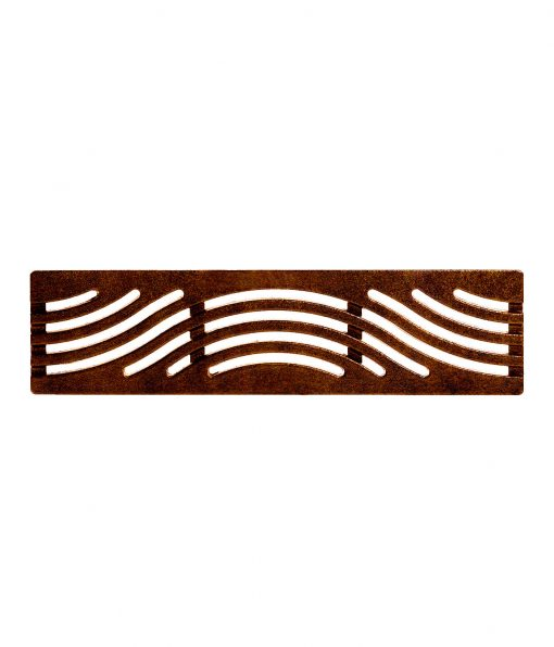 R-4989 Tidal Wave trench drain is 6 inches wide with wave patterns