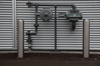 R-7301-EX stainless steel bollard protecting hydro meter