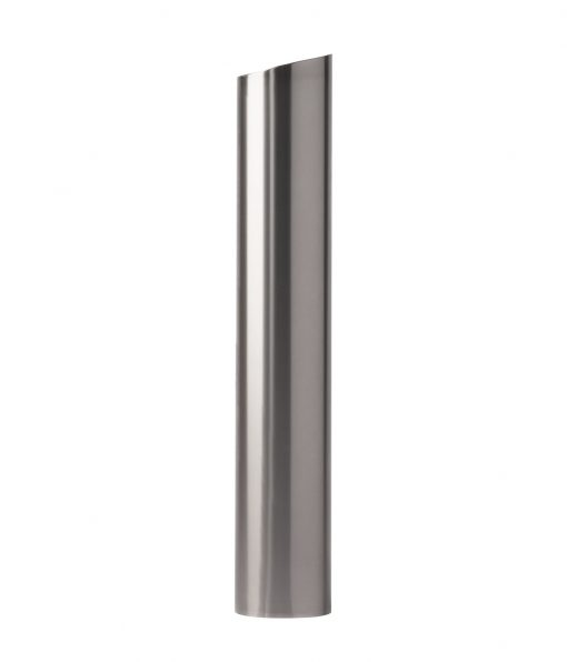 R-7302-EX stainless steel bollard cover with slanted top