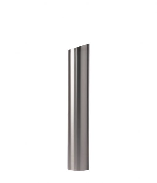R-7302 slant-top stainless steel bollard cover