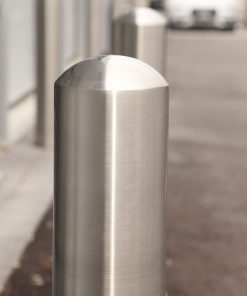 R-7305-EX stainless steel bollard cover dome top closeup