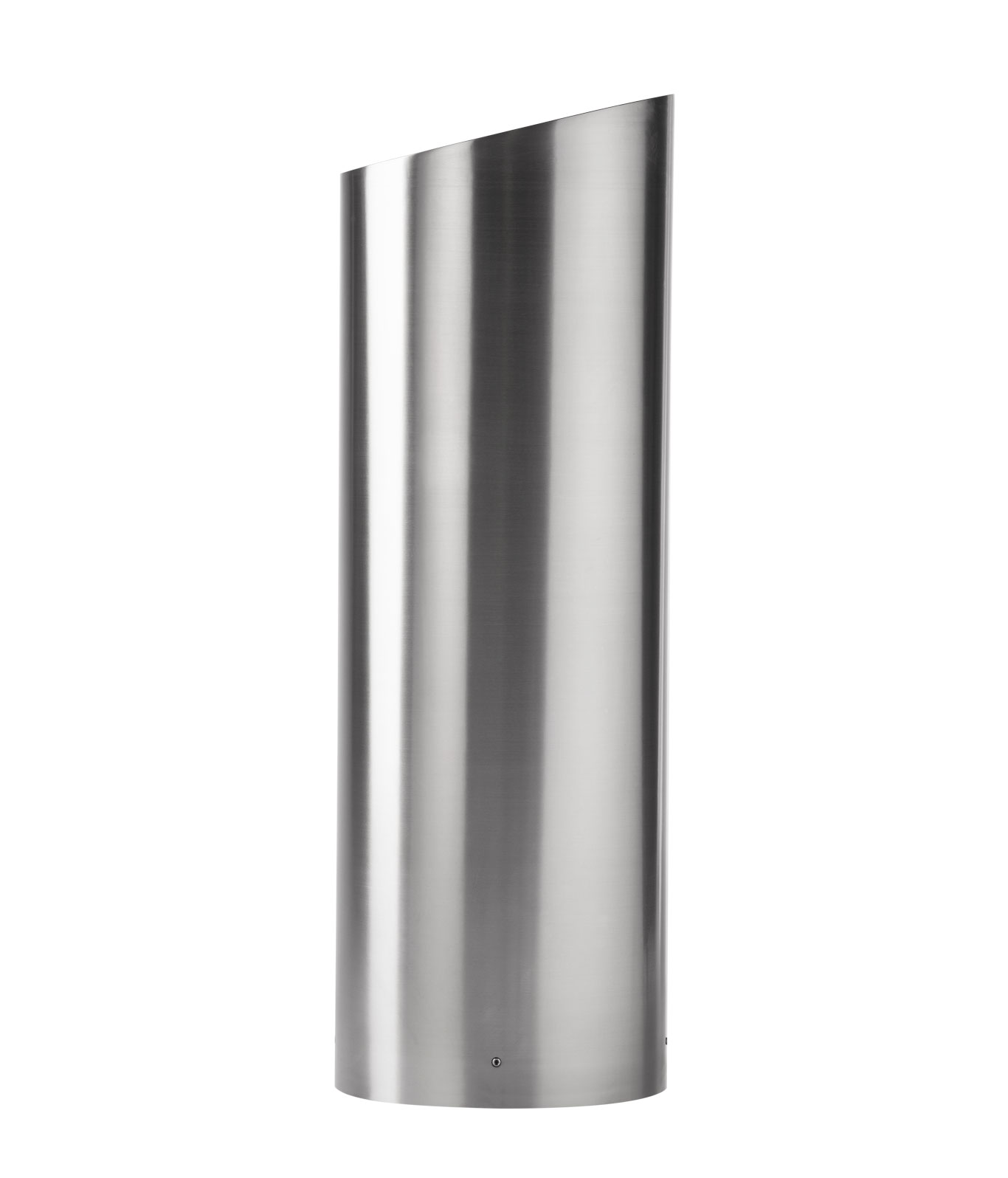 R-7318 stainless steel bollard cover with slant-top design