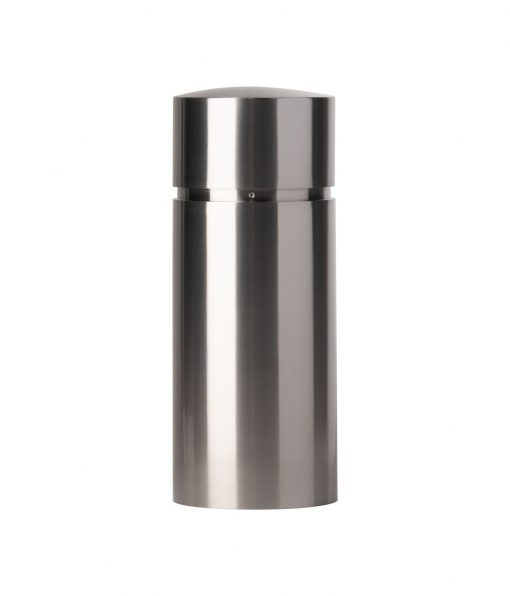 R-7341 stainless steel bollard cover with rounded top