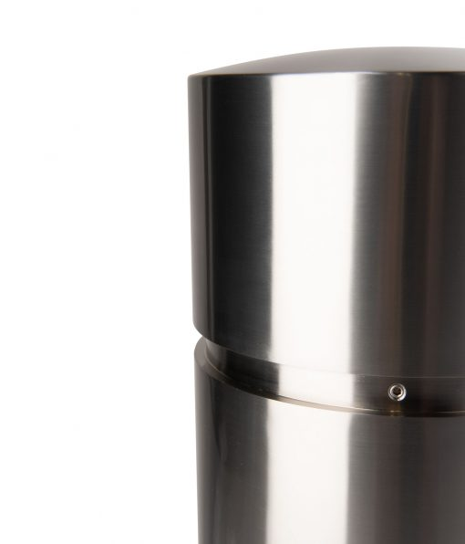 R-7341 bollard cover in stainless steel top section