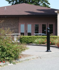 R-7530 decorative bollard in front of house