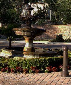 R-7539 decorative bollards around fountain