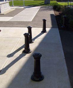 R-7581 decorative bollards on concrete path