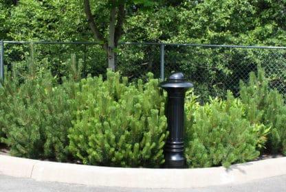 R-7598 decorative bollard near bushes