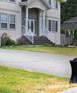 R-7611 decorative bollard in front of driveway