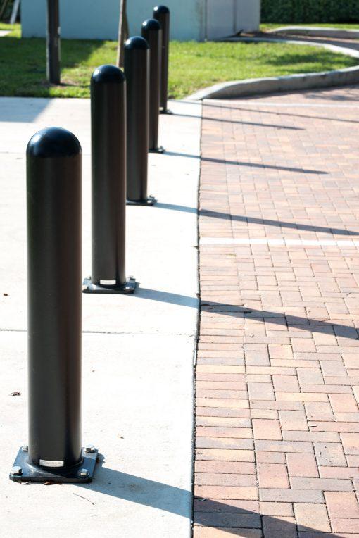 Line of R-7648 bolt down bollards