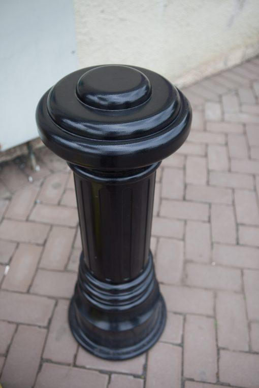 Black R-7691 decorative bollard top view