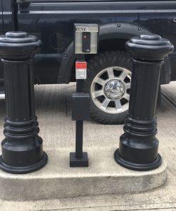 R-7691 decorative bollards protecting parking meter