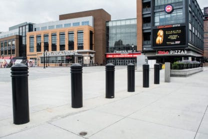 R-7743 decorative bollards in front of plaza