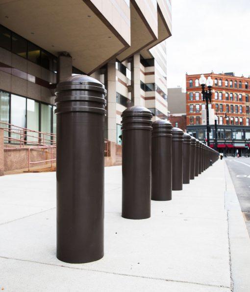 R-7743 decorative bollards on sidewalk