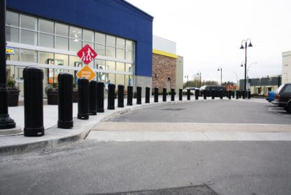 R-7744 decorative bollards in front of Best Buy