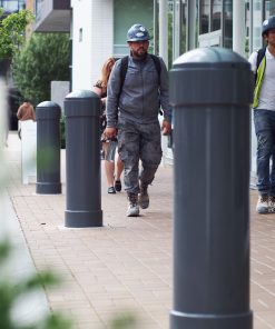 R-7744 decorative bollard with people walking by