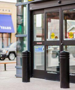 R-7835 decorative bollards protecting storefront