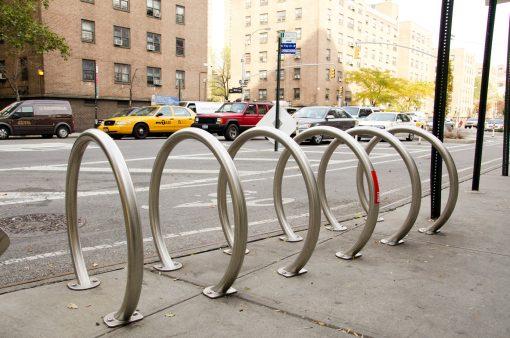 R-8224 stainless steel ring bike rack