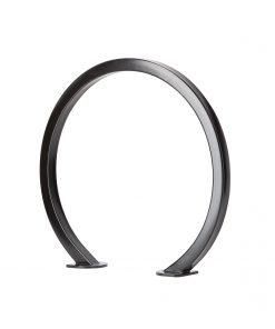 R-8234 black steel ring bike rack with square tubing