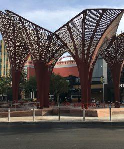 R-8460 stainless steel bollards in Las Vegas