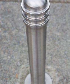 R-8901 stainless steel bollard closeup