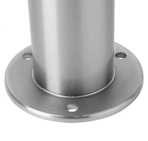 R-8903 stainless steel bike bollard with flanged surface mount