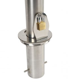 removable stainless steel bollard mounting receiver