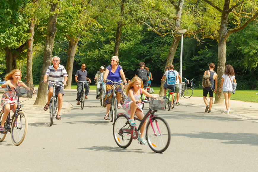 Cyclists of all ages in Amsterdam reveal prevalence of European bike culture