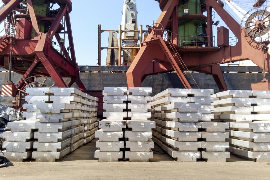 Aluminum ingots produced after aluminum casting