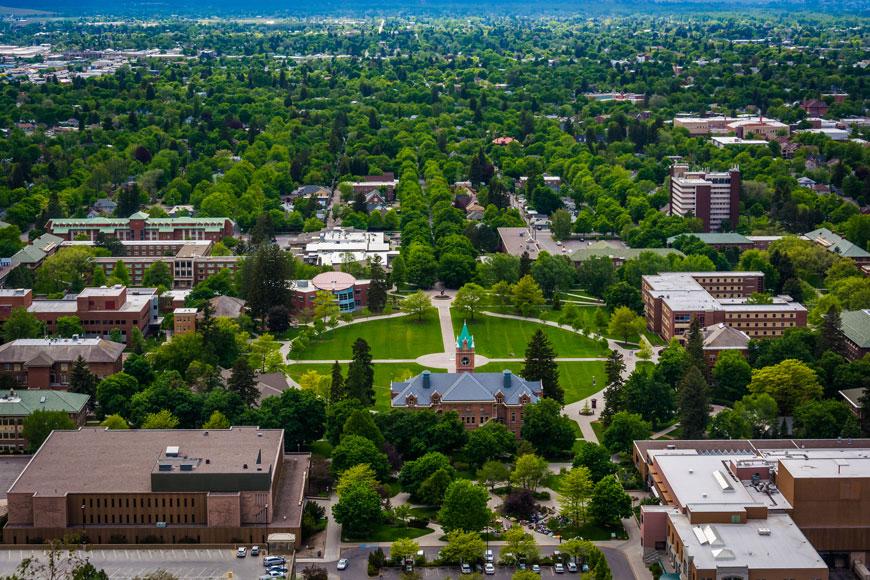 An image of the university at Missoula, Montana
