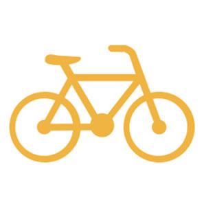 A yellow wireframe bike logo announces Average Joe Cyclist