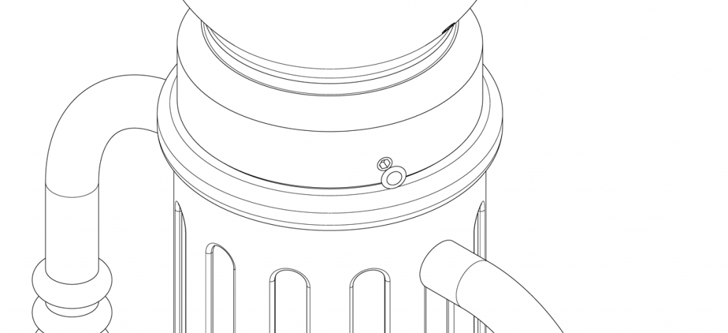 Diagram showing plastic plugs on set screws