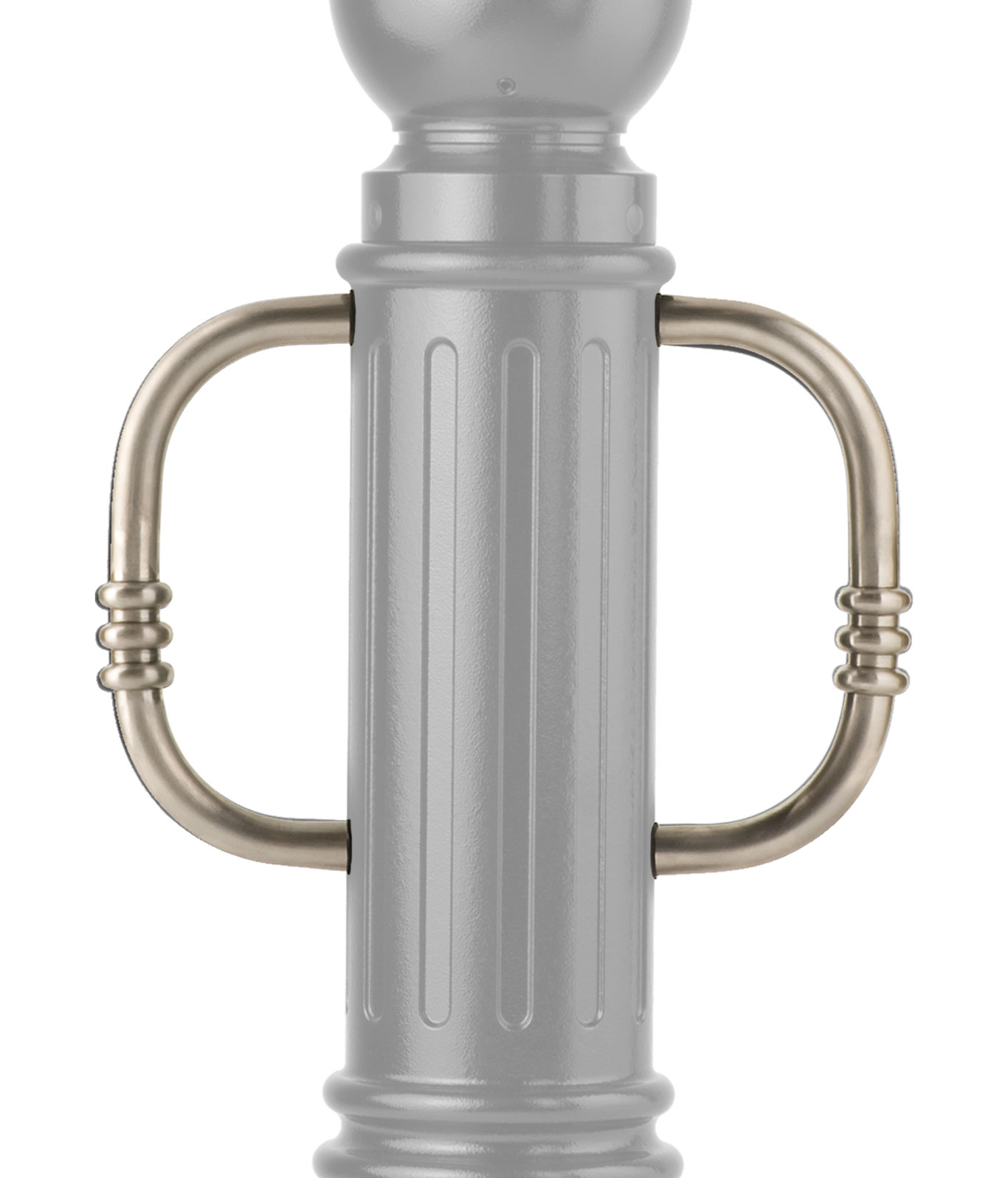 stainless steel bike parking arms for bollards