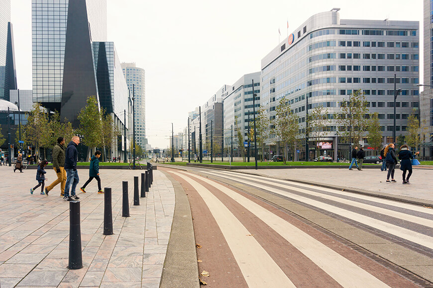 Street bollards in Rotterdam Netherlands