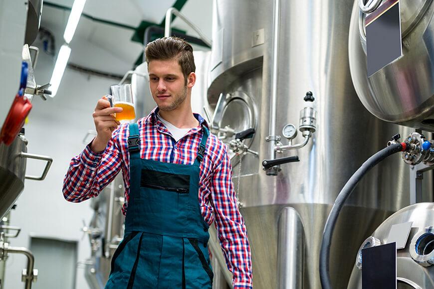 brewer testing his beer