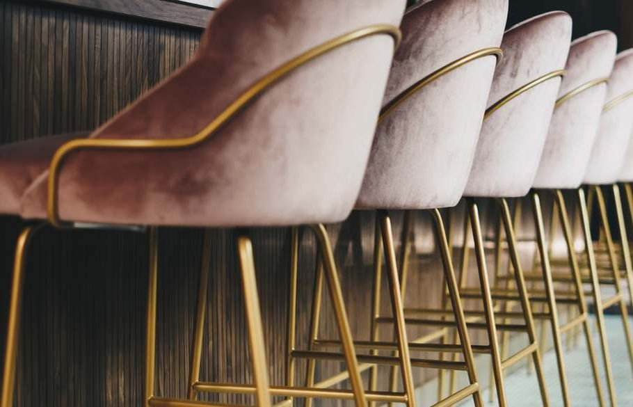 Elegant brass chair legs