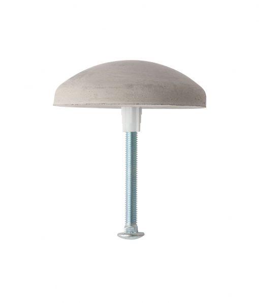 concrete steel pipe bollard cap